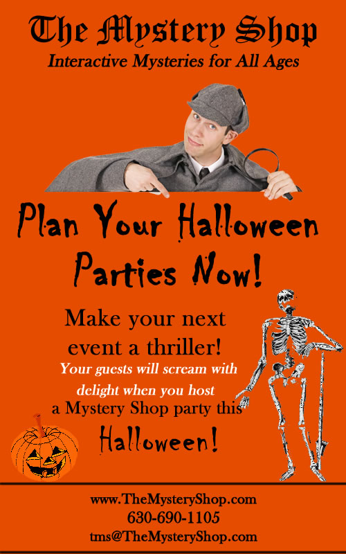 Plan your Halloween parties with The Mystery Shop!