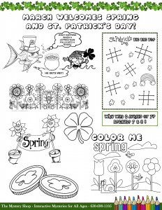 The Mystery Shop March 2015 Coloring Page