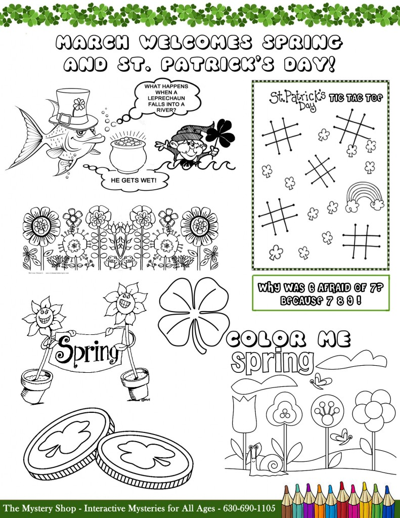 The Mystery Shop March Coloring Page