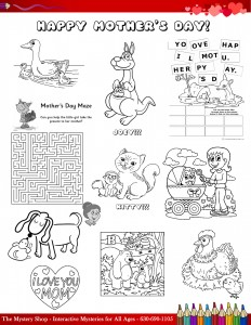 Kids' Coloring Page for Mother's Day