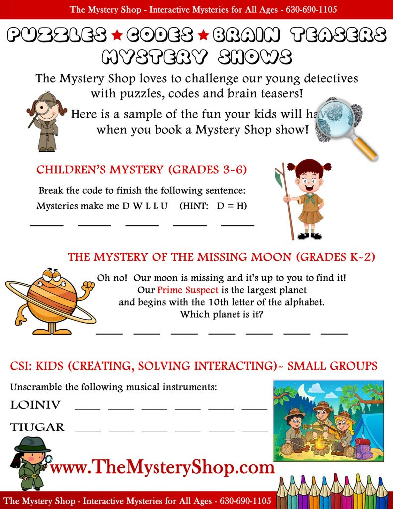 Activity page for kids