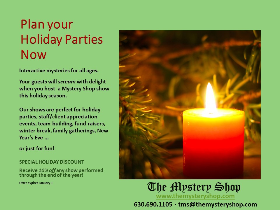 Plan your holiday parties now
